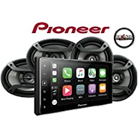 Pioneer MVH-1400NEX 6.2 Digital Multimedia Video Receiver with a Pair of Pioneer TS-695P 6x9 and a Pair of Pioneer TS-165P 6.5 Speakers and a SOTS Air Freshener