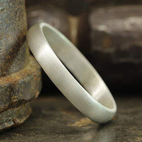 Unisex sterling silver ring Thick sterling silver ring Domed sterling silver ring