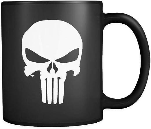 The Punisher 11 Oz 15 Oz Mug Marvel Comic Mug Skeleton Mug The skull Mug