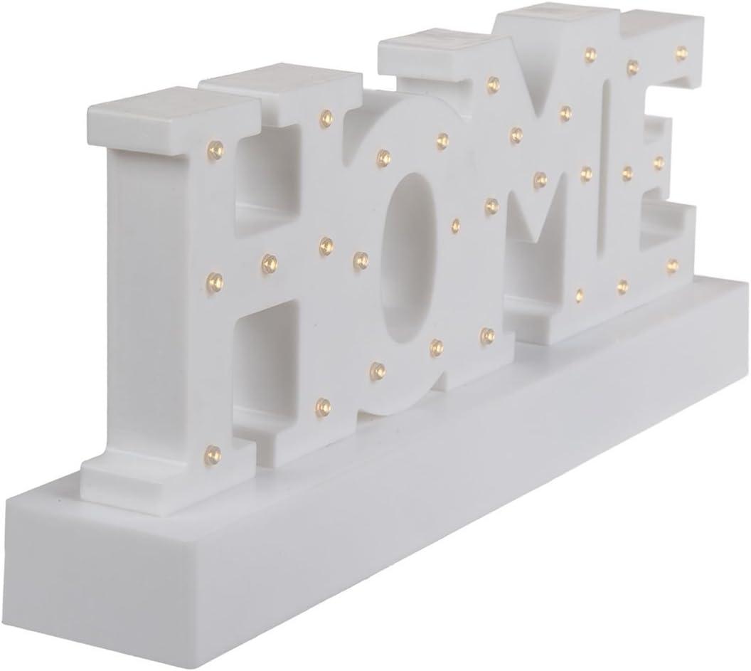 OOTB Home Letter Light - Lámpara de techo, color blanco