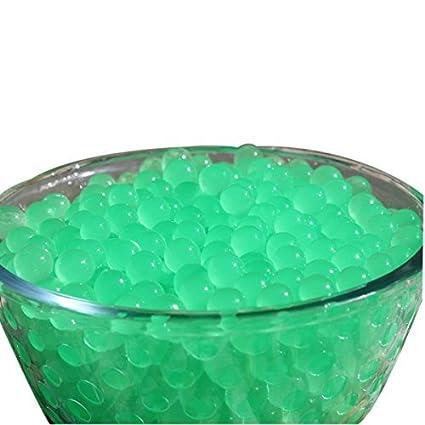 WedDecor 500pcs Nera Acqua a Gel Perle Acqua Cristallo Suolo Bio in Gomma Perle Non Tossico 10G x Pianta Vaso Accessorio, Decorazione per Nozze, Centrotavola (Singola) - Verde, 1
