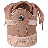 PUMA Baby Suede Heart Sneaker, Peach Beige-Pearl, 5
