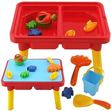 Sand & Wasser Spieltisch Sandkasten Tisch für Kinder (SET: 10 Teile ...