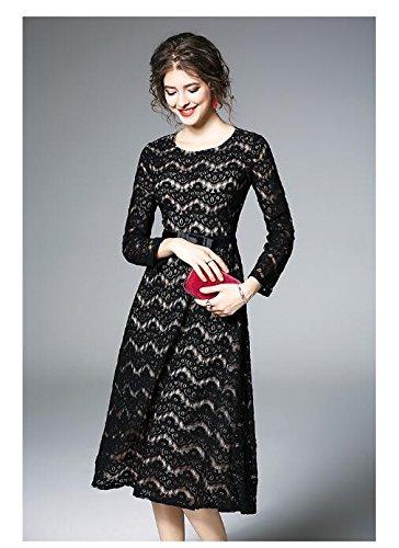JIALELE Y Encaje Negro Vestido Vestido Mujer Fiesta De De Fiesta UU1F8aBr