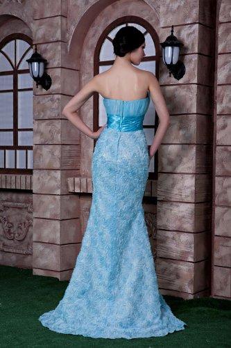 Entwurfsart Neuer und traegerlosen Blau Abendkleid Meerjungfrau Blau GEORGE weise BRIDE E5qnxz0w8t