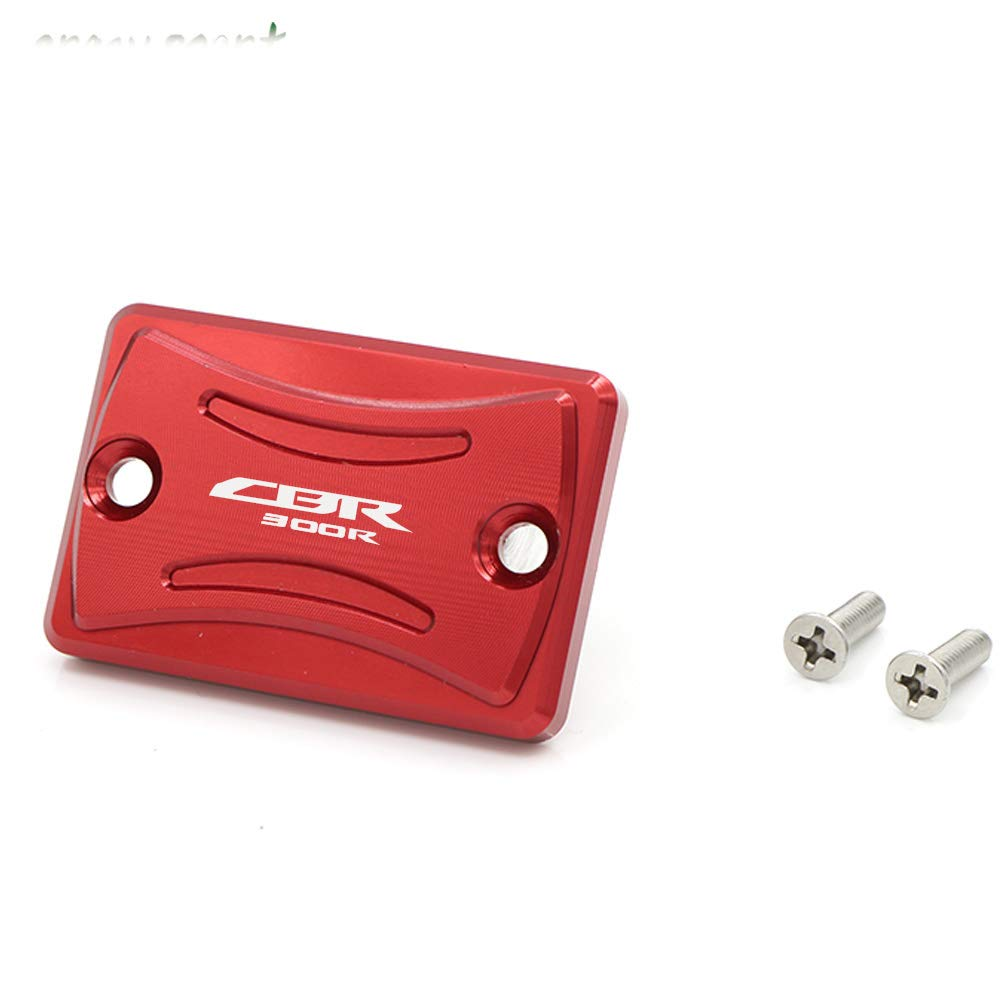 Red crazy sport Front Brake Fluid Reservoir Cover Cap For HONDA CBR 300R CBR300R CBR300 2015-2018 Motorcycle Accessories CNC Aluminum With Logo