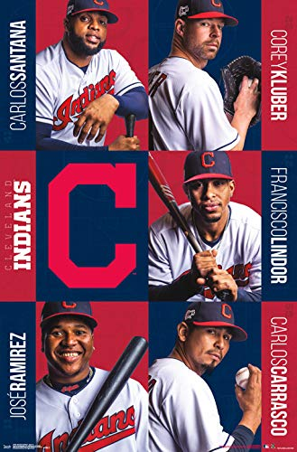 Cleveland Indians Mlb Crystal - Trends International Cleveland Indians - Team 19 Wall Poster, 22.375