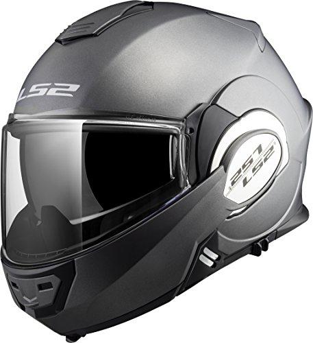 LS2 Helmets Unisex-Adult Solid Motorcycle Helmet (Matte Titanium, Medium) - 399-1033
