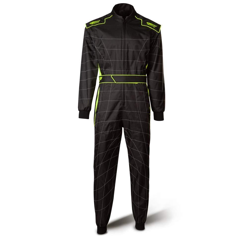 /2/tuta/ /nero//giallo fluo /Pennello Kart tuta/ Speed Racewear Cordura Atlanta CS/