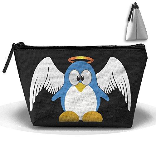 Bing4Bing Oxford Fabric Angel Wings Penguin Trapezoid Receive Bag,Sewing Kit Cartridge Bag Cosmetic Bag Storage - Cartridge Penguin