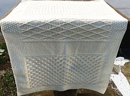 100% aran wool knitted knee/wheelchair blanket/ knee blanket