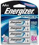 2 Pack Energizer L91BP-4 Ultimate Lithium AA Batteries 4 Batteries per Package