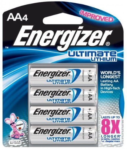 2 Pack Energizer L91BP-4 Ultimate Lithium AA Batteries 4 Bat