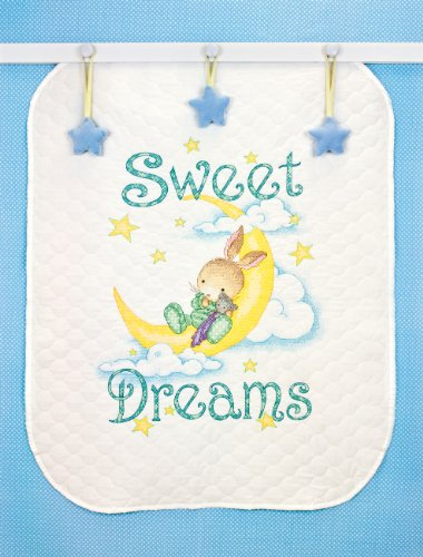 """Dimensions Stamped Cross-Stitch Quilt Kit, Sweet Dreams, 34"""""""