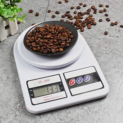 RUNWEI Bilance da Cucina Elettroniche per Uso Domestico Bilance da Cucina Digitali per Alimenti, Display LCD