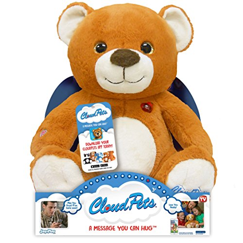 CloudPets Talking Teddy Bear - The Huggable Pet to Keep in Touch Through the Cloud, Recordable Stuffed (Recordable Bluetooth)