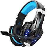 #4: BENGOO G9000 Stereo Gaming Headset for PS4, PC, Xbox One Controller, Noise Cancelling Over Ear Headphones with Mic, LED Light, Bass Surround, Soft Memory Earmuffs for Laptop Mac Nintendo Switch Games