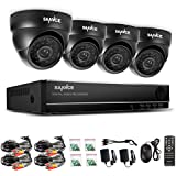 SANNCE 4CH Full 960H DVR Video Recorder + 4x 800TVL IR-Cut Built-in CCTV Surveillance Cameras System, IP66 Weatherproof, QR Code Quick Scan Remote Access Viewing-NO HDD