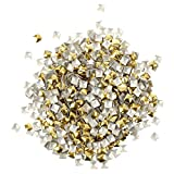 SODIAL(R) Pack of 270 Nail Art Studs - 4mm - Gold and Silver - Nail Art - Rhinestone - Gems from Y2B