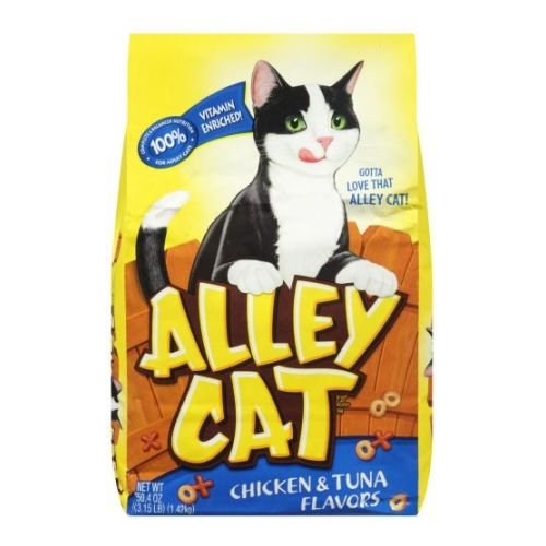 Alley Cat Chicken and Tuna Dry Cat Food, 3.15 Pound — 12 per case.