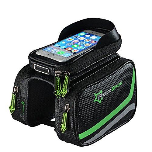 RockBros Bicycle Frame Bag Pannier Tube Bag Touchscreen Phone Holder Bag - Brisbane Airport Shops