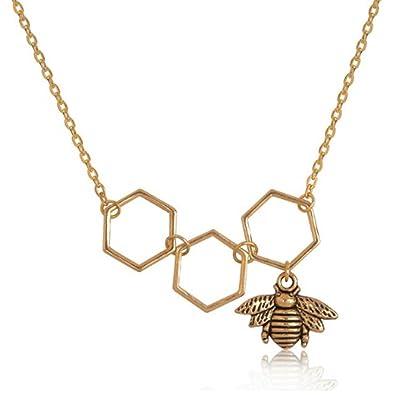 Izubizu london fashion bee pendant 18ct gold plated honeycomb design izubizu london fashion bee pendant 18ct gold plated honeycomb design necklace luxury gift box aloadofball Gallery
