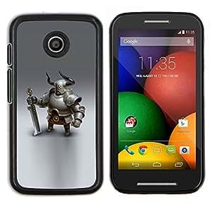 LECELL--Funda protectora / Cubierta / Piel For Motorola Moto E -- Vikingo espadachín caballero gráficos CGI --