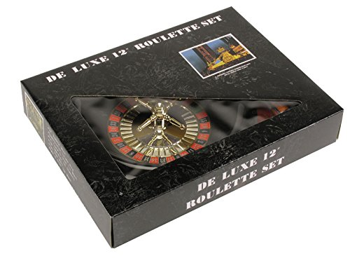 Loftus Deluxe Las Vegas Casino Roulette 4pc 11'' Game Set, Red Black by Loftus