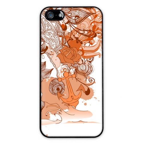 Diabloskinz H0081-0004-0055 Abstract Garden Orange Schutzhülle für Apple iPhone 5/5S
