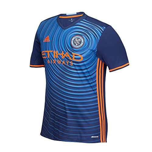 fan products of MLS New York City FC Men's Replica Short Sleeve Team Jersey, Sky, Large