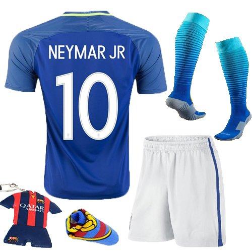competitive price 5a3c3 db973 Soccer Kids 2016/2017 Brazil #10 Neymar Jr Away Jersey ...