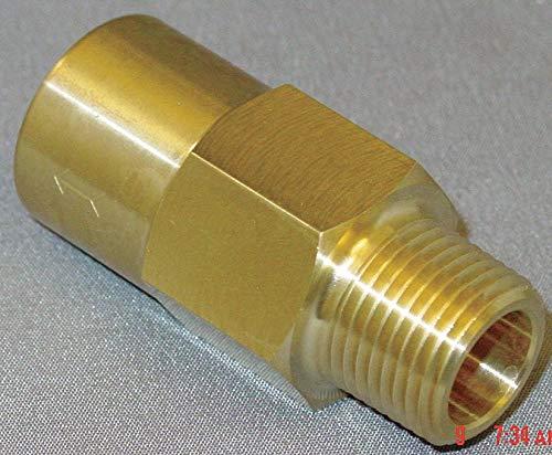 3//8 In. Piston Spring Check Valve Brass