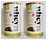 Solgar – Whey to Go Protein Powder, Natural Chocolate Flavor, 16 Ounce -2 Pack – Excellent Source of Protein