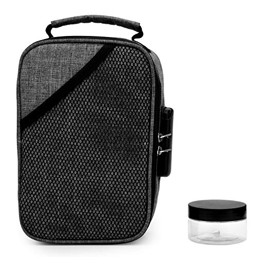 Smell Proof Bags by Hydroflyy - (Secure) Combination Lock and Large Storage Capacity, Keep Your Herb Stash, Jar, Weed, Vapes, Grinder and Rolling Papers in a Safe Place Plus Extra Smell Proof Jar. by Hydroflyy (Image #9)
