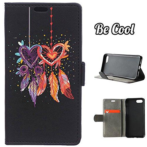 BeCool® - Housse étui [portefeuille] iPhone 7 Plus, [Fonction support], protège et s'adapte a la perfection a ton Smartphone. Elegan Wallet. Brouillade de chiens et chats