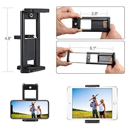 ZOMEi Trépied pour Smartphone, T80 Trépied de Voyage avec télécommande Bluetooth, rotule et Support de téléphone, Compatible avec la Plupart des Smartphone Reflex numériques Caméra