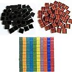 Jicyor Mosaico Vetroso, 480 Pezzi Misti Colore Cristallo Quadrato Vetro Luminoso Artigianato Tessere Mosaico Set per DIY… 51vlnsEVgLL. SS150