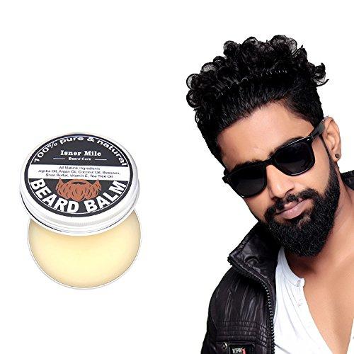 ANIMOAO Organic Beard Preboily Conditioner Beard Balm Moustache Cream Beard Oil Set Moisturizing Moustache Wax Brush Comb Natural