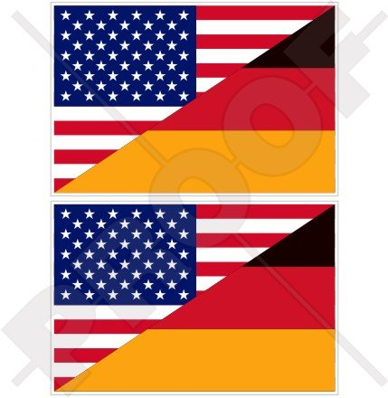 USA United States of America & GERMANY Flag, American & German, Deutschland 4