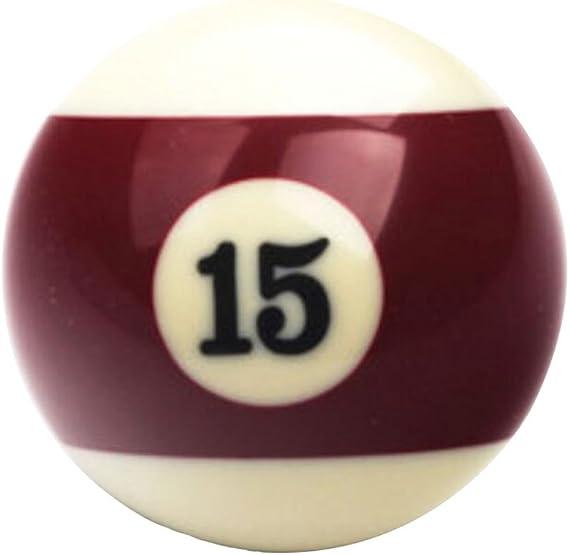 Black Temptation 1 PCS Cue Sport Snooker USA Pool Bolas de Billar 57.2 mm / 2-1/4 - NO.15: Amazon.es: Deportes y aire libre