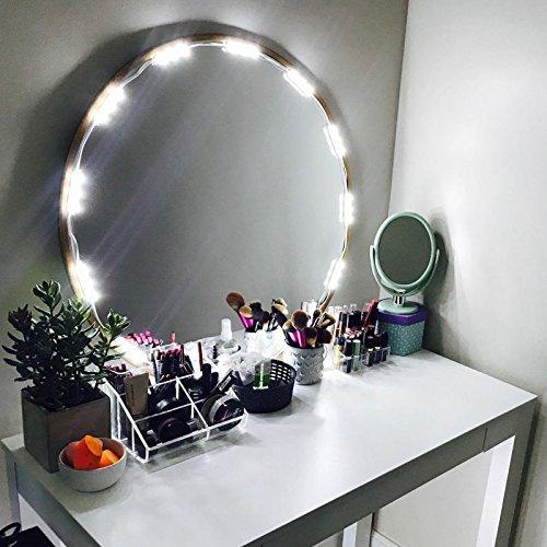 Penson Espejo Iluminado con luz LED para Kit de Espejo de Cambiador de Maquillaje cosméticos, 20Luces LED