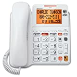 AT&T CL4940 Corded Standard Phone with Answering System and Backlit Display, White (Certified Refurbished)