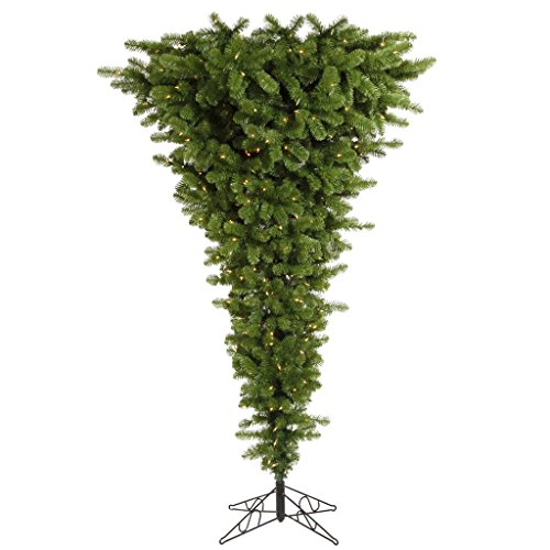 Vickerman Green Upside Down Tree with Dura-Lit 250 Clear Lights and 519 PVC Tips, 5.5-Feet by 38-Inch ()