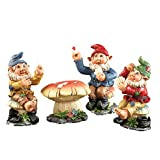 Poker Night Garden Gnome Figurines – 4 PC, Multi-Colored
