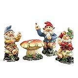 Poker Night Garden Gnome Figurines – 4 PC, Multi-Colored