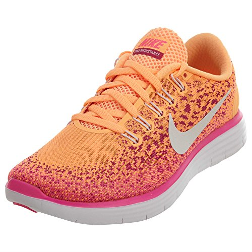 Nike Womens Free RN Distance Running Trainers 827116 Sneakers Shoes (US 6.5, atomic orange white pink blast 800) 827116-800