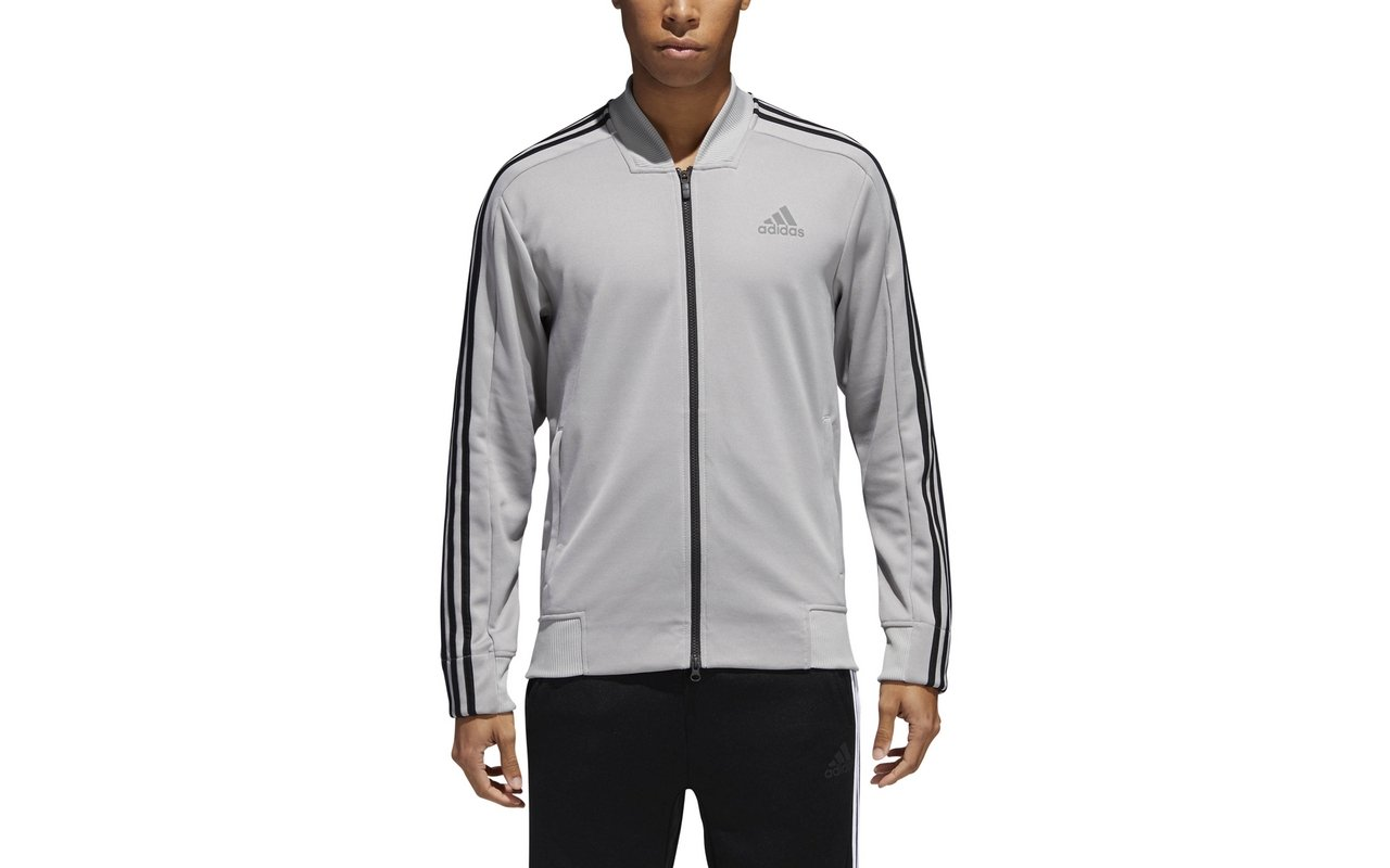 adidas Men's Track Tennis Jacket Squad ID Track Grey (Small, Grey) by adidas (Image #1)
