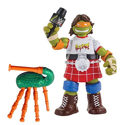 Teenage Mutant Ninja Turtles Ninja Super Stars: Michelangelo Asrowdy Roddy Piper Action Figure by Teenage Mutant Ninja Turtles