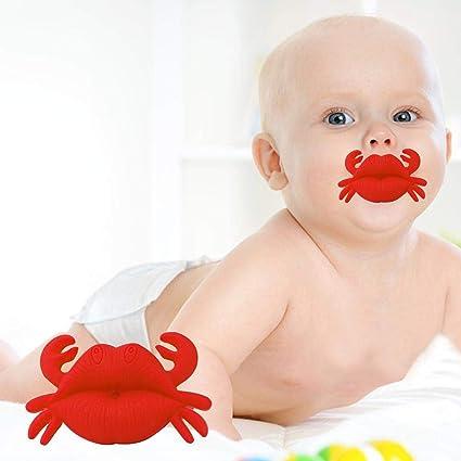Chupete para pezón de bebé, portátil, con Forma de Boca de Cangrejo ...