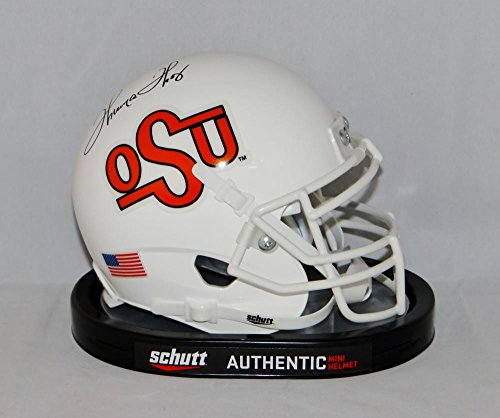 Thurman Thomas Autographed Oklahoma State Schutt TB Mini Helmet- JSA W Auth (Authentic Tb Mini Helmet)
